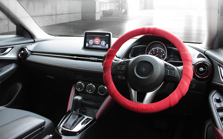 SILICON ULTRA GRIP STEERING COVER [RED]