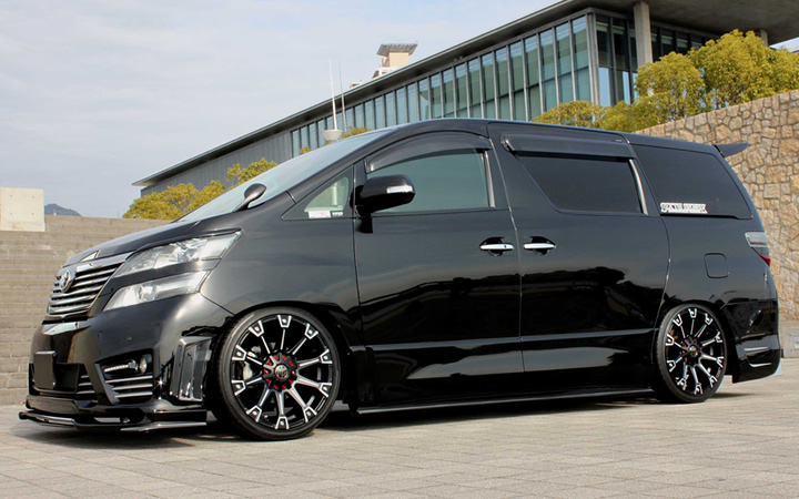 MONSTER [MAT BLACK POLISH / DEEP RED] (attached to VELLFIRE)