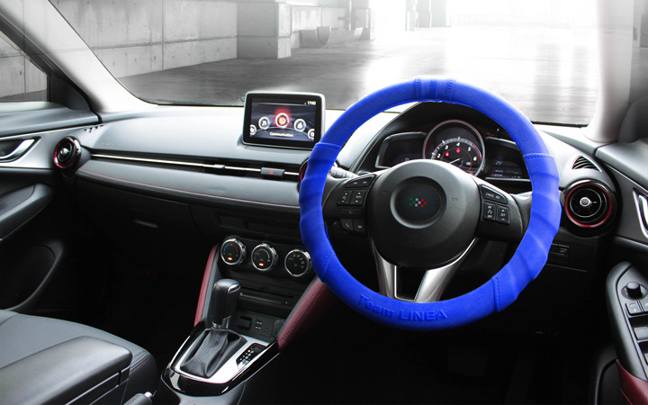 SILICON ULTRA GRIP STEERING COVER [BLUE]
