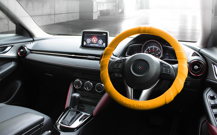 SILICON ULTRA GRIP STEERING COVER [ORANGE]