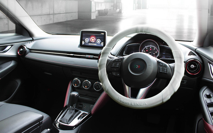 SILICON ULTRA GRIP STEERING COVER [CLEAR]