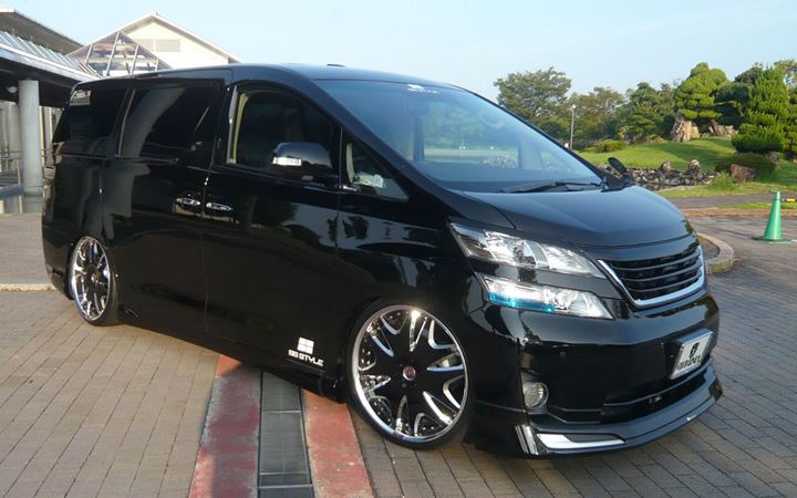 L566 -KING LABEL- [BLACK SIDE MACHINING] (attached to VELLFIRE)