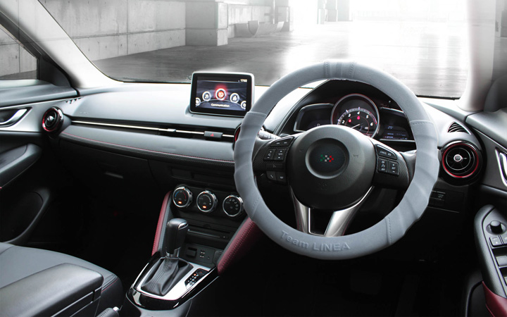 SILICON ULTRA GRIP STEERING COVER [GRAY]
