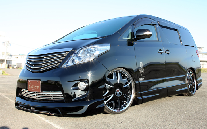 L566 -KING LABEL- [BLACK SIDE MACHINING] (attached to ALPHARD)