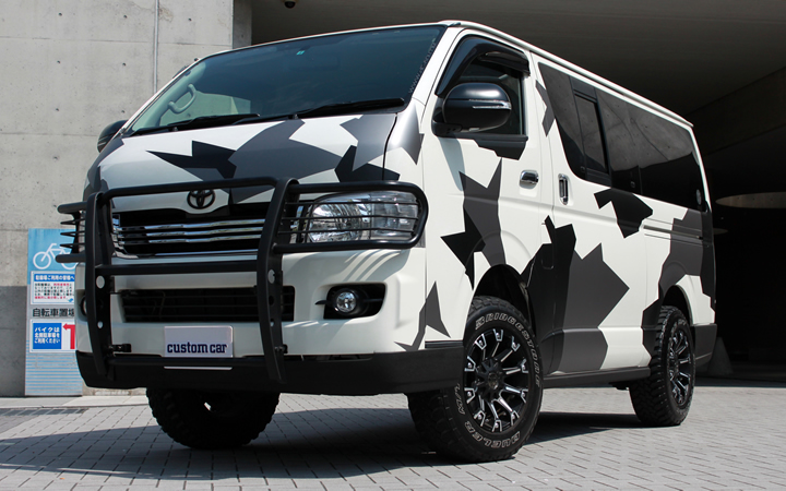 MONSTER [MAT BLACK POLISH] (attached to HIACE)