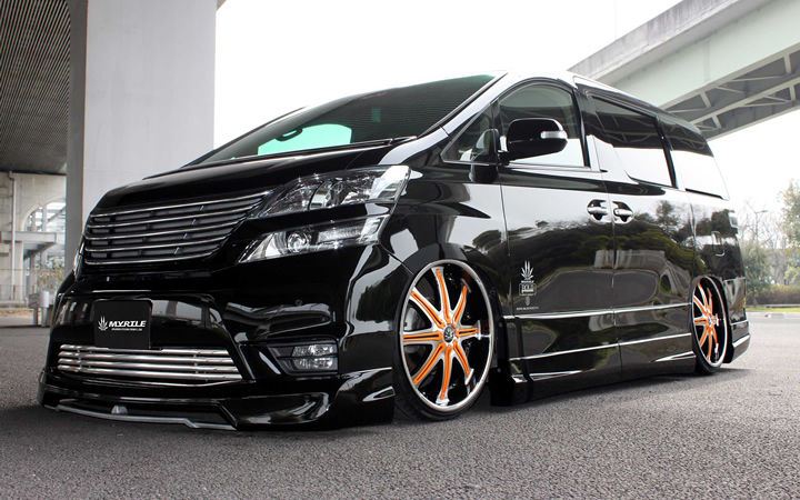 2 face F/A [BLACK POLISH / ORANGE] (attached to VELLFIRE)
