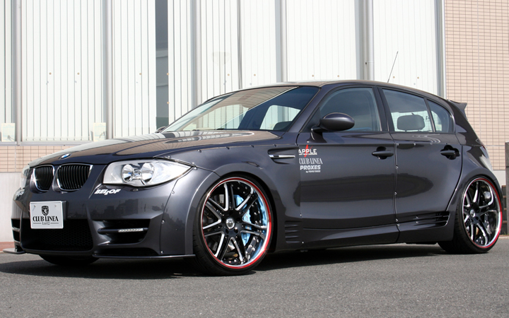 L612 [BLACK SIDE MACHINING][F/A(SOFT) RED CHROME] (attached to BMW 1 SIRIES)