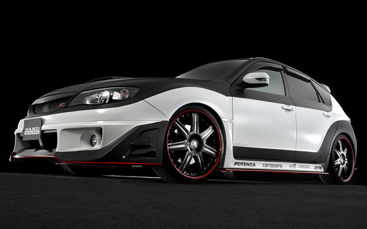L612 [BLACK SIDE MACHINING][F/A(SOFT) RED CHROME] (attached to IMPREZA)